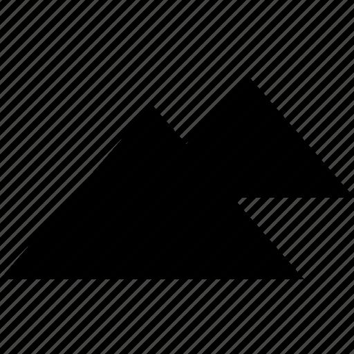egypt, giza, pyramids, two icon