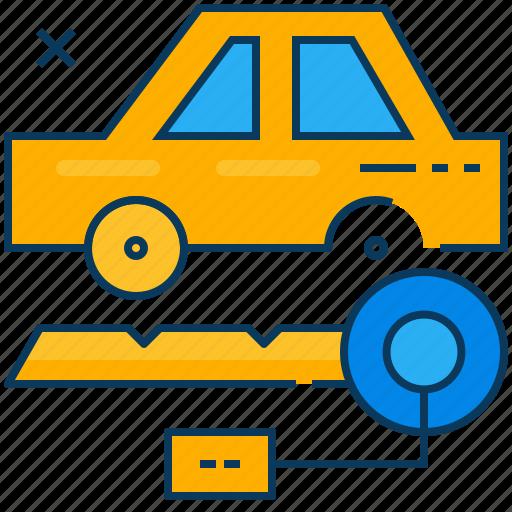 blue, car, key, orange, rent, transportation, travel icon