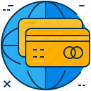card, cash, credit, payment, shopping, visa, worldwide icon