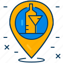hangout, location, map, party, pin, place, travel icon