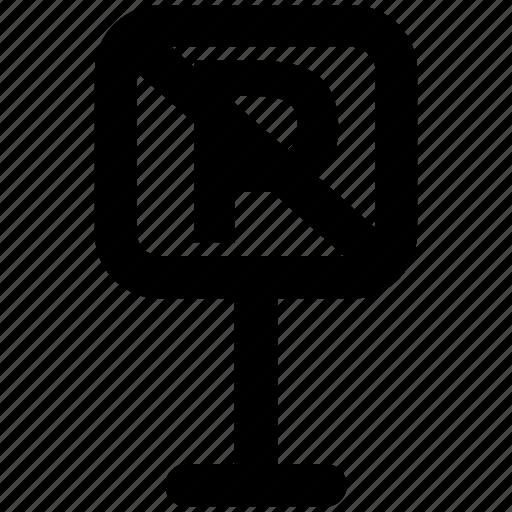 no parking, parking ban, parking forbid, parking not allowed, prohibit icon