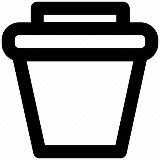 dustbin, trash bin, trash can, waste container icon