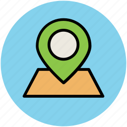 gps, location marker, location pointer, map marker, map pin, navigation icon