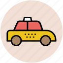 automobile, cab, hire car, motorcar, taxi, taxicab icon
