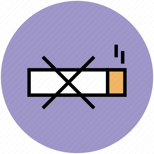 no cigarette, no smoking, quit smoking, smoking prohibited, smoking restriction, warning sign icon