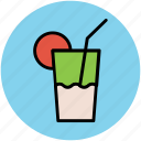 beverage, drink, glass, lemonade, soft drink, summer drink icon