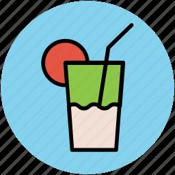 beverage, drink, glass, lemonade, soft drink, summer drink icon