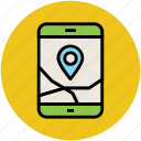 gps, gps tracker, map application, map navigation, mobile app, online maps icon