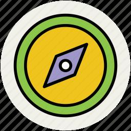 cardinal points, compass, gps, map orientation, navigation, tourism icon