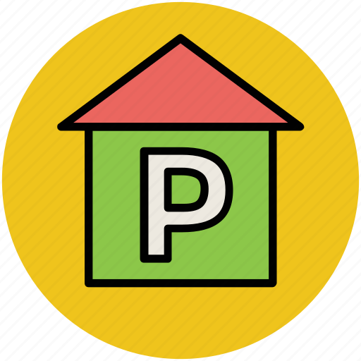 car garage, car parking, garage, parking, parking area icon