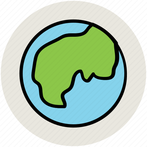 earth, globe, planet, world, world map icon