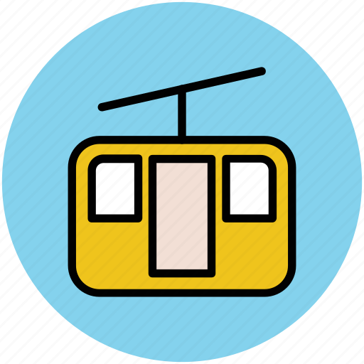 aerial lift, chairlift, lift, ropeway, transport icon