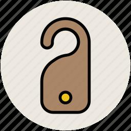 door hanger, door label, hotel door hanger, tag icon