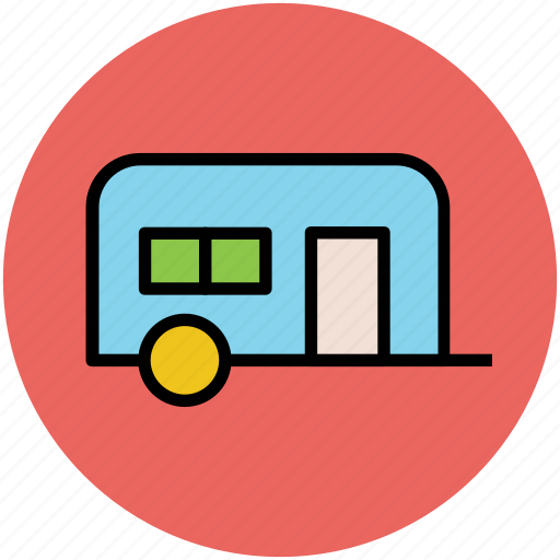 living truck, living van, transport, travelling, van dwelling, vanity van icon