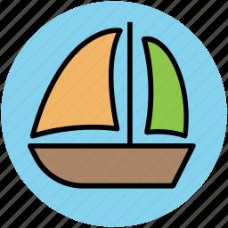 boat, cruise, sailing boat, ship, transport, vessel icon