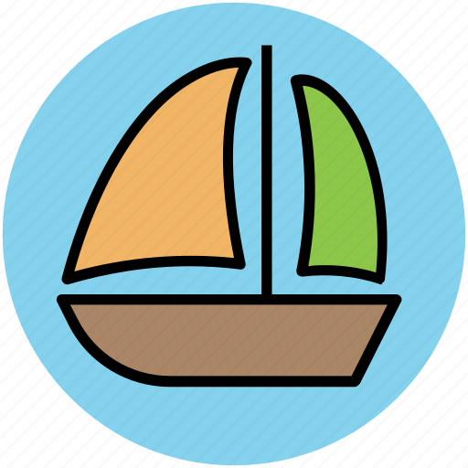 boat, cruise, sailing boat, ship, transport, vessel icon