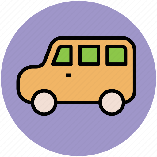 automobile, bus, transport, travel, van, vehicle icon