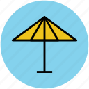 beach umbrella, open umbrella, parasol, rain protection, sunshade, umbrella icon