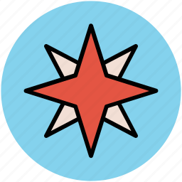 cardinal points, compass, compass rose, gps, windrose icon