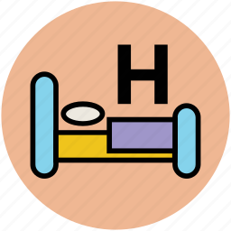 bed, health clinic, hospital, hospital bed, medical treatment, patient bed icon