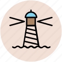 light house, lighthouse tower, sea light house, sea tower, tower house icon