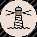 light house, lighthouse tower, sea light house, sea tower, tower house icon