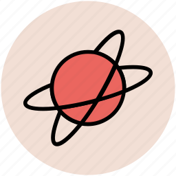 atom, physics, planet, science, solar system icon