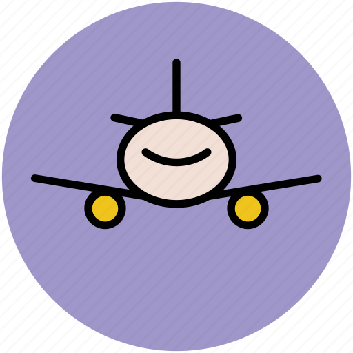 aeroplane, airbus, airliner, airplane, flight, plane, travel icon