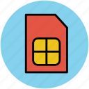 chip, mobile network, mobile phone, phone sim, sim, sim card icon