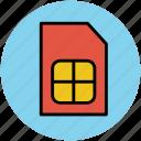 chip, mobile network, mobile phone, phone sim, sim, sim card icon