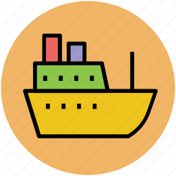 boat, cruise, luxury cruise, ship, shipping, shipping boat, vessel icon