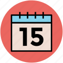 calendar, date, schedule, wall calendar, yearbook icon