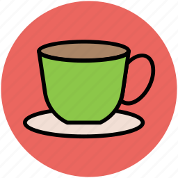 beverage, coffee cup, cup, drink, hot tea, saucer, tea cup icon