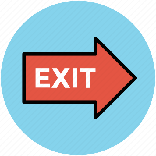 emergency sign, exit, exit sign, exit signal, go out, information board, way out icon