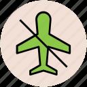 airplane mode, flight prohibition, flight restriction, no flight, no plane icon