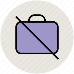 luggage restriction, no bag, no baggage, no briefcase, no luggage icon