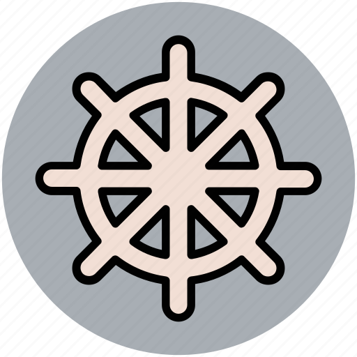 boat steering, boat wheel, rudder, ship helm, ship steering, ship wheel icon
