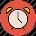alarm, alarm clock, clock, timepiece, timer icon