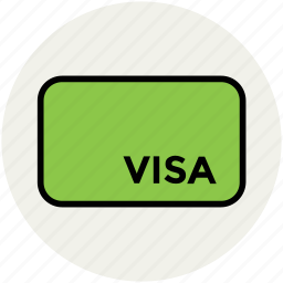 atm card, bank card, credit card, debit card, plastic money, visa card icon
