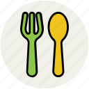 cutlery, dining, flatware, fork, knife, silverware, tableware icon