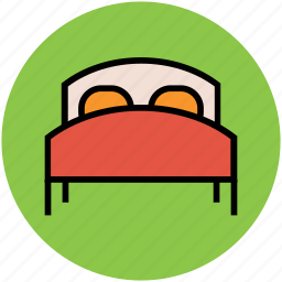bed, bedroom, double bed, furniture, hotel room, sleep icon