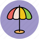 beach umbrella, parasol, shade, sunshade, umbrella icon