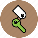 key, key chain, lock key, room key, security, unlock icon