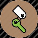 key, key chain, lock key, room key, security, unlock icon