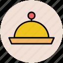 chef platter, food platter, food serving, platter, restaurant, serving platter icon