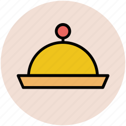 chef platter, food platter, food serving, platter, restaurant, serving platter icon