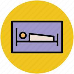 bed, furniture, hotel room, rest, single bed, sleeping icon