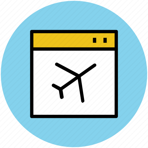 air ticket, e ticketing, flight ticket flight reservation, online ticket icon
