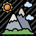 altitude, landscape, mountains, nature, snow icon