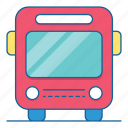 bus, car, holiday, transportation, travel, vacation, vechile icon